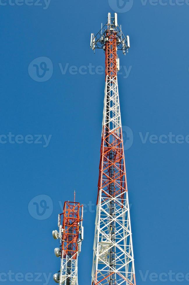 antenne de télécommunications. photo