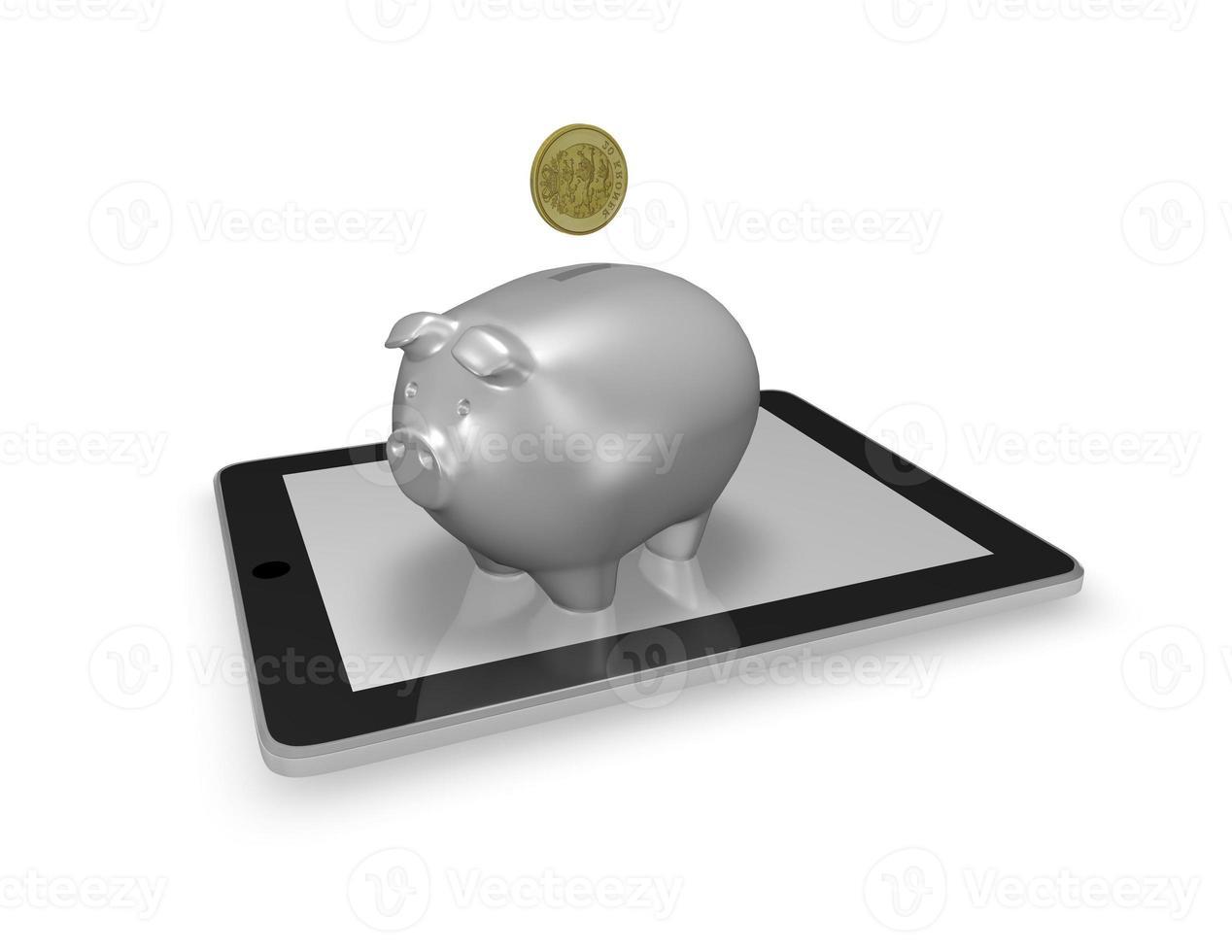 concept de banque mobile photo