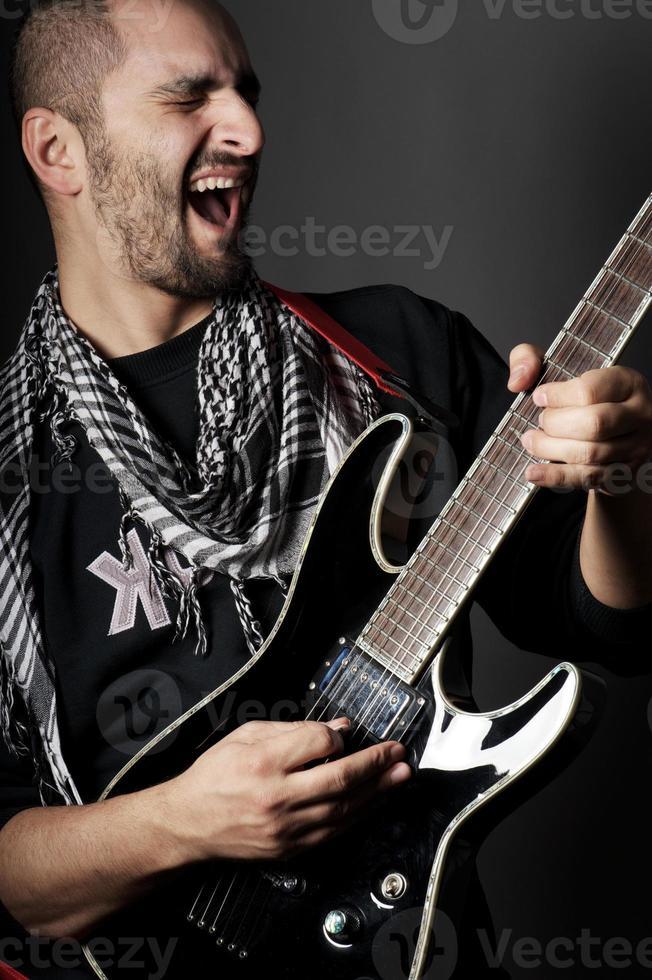 joueur de guitare rock photo