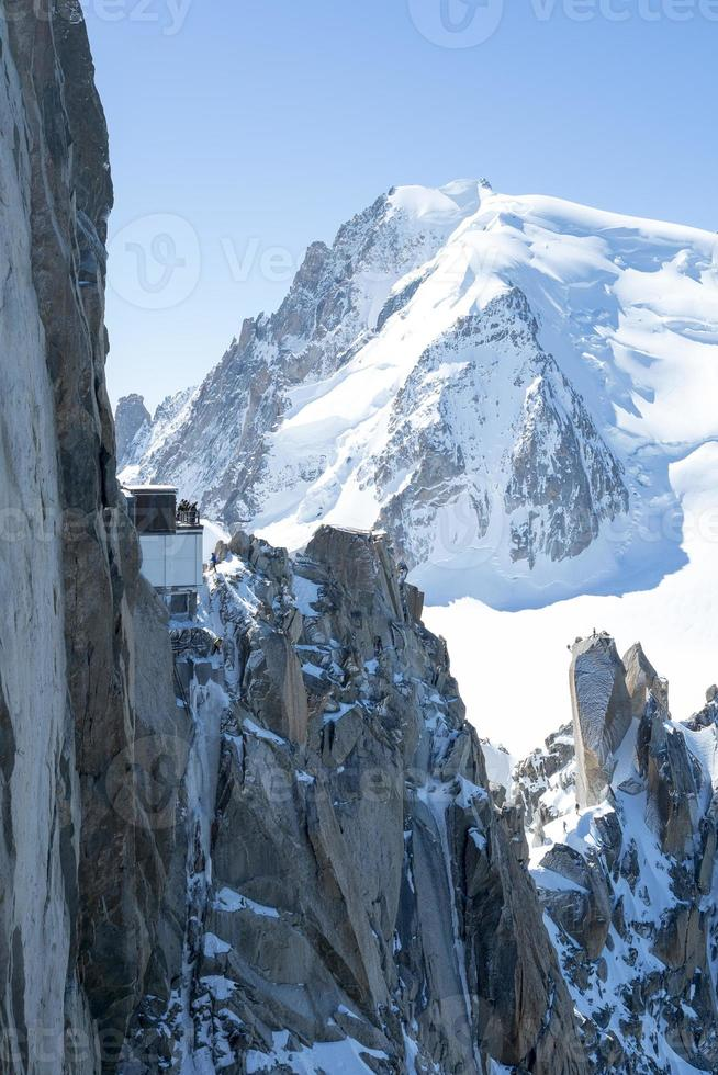 roches du mont blanc photo