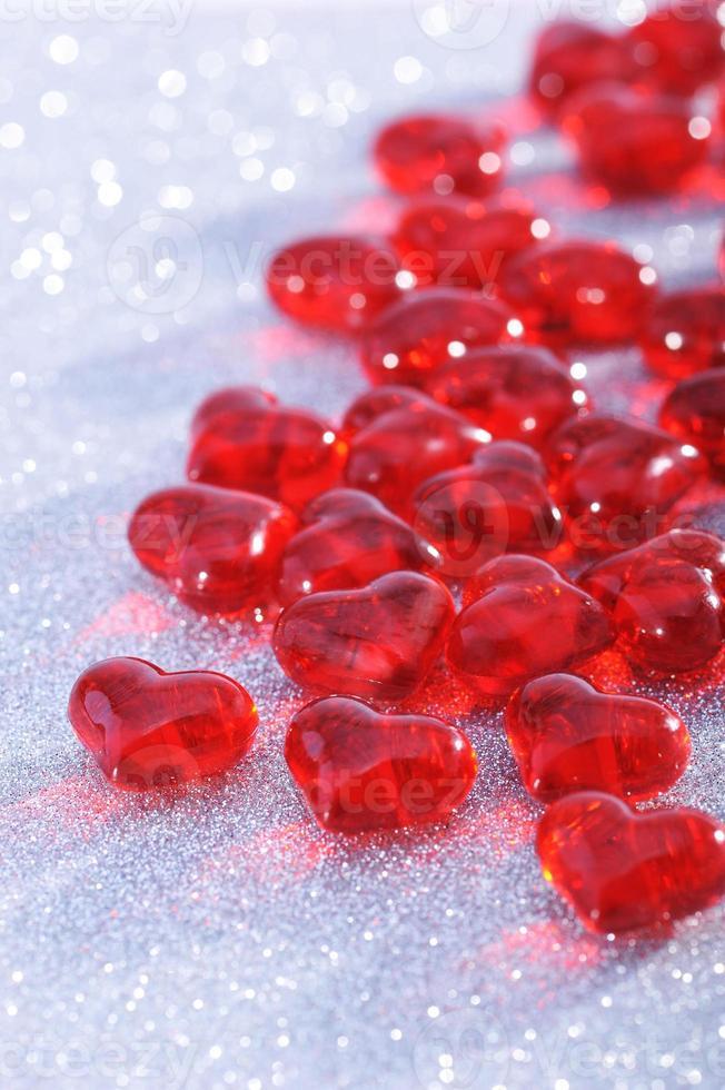 rote glasherzen photo