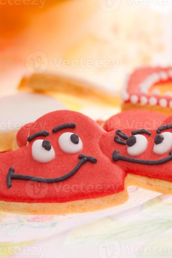 biscuits de pain d'épice amoureux photo