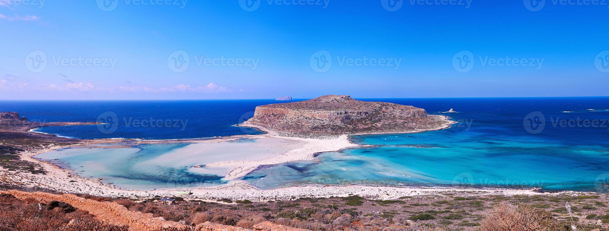 panorama de la plage de balos photo