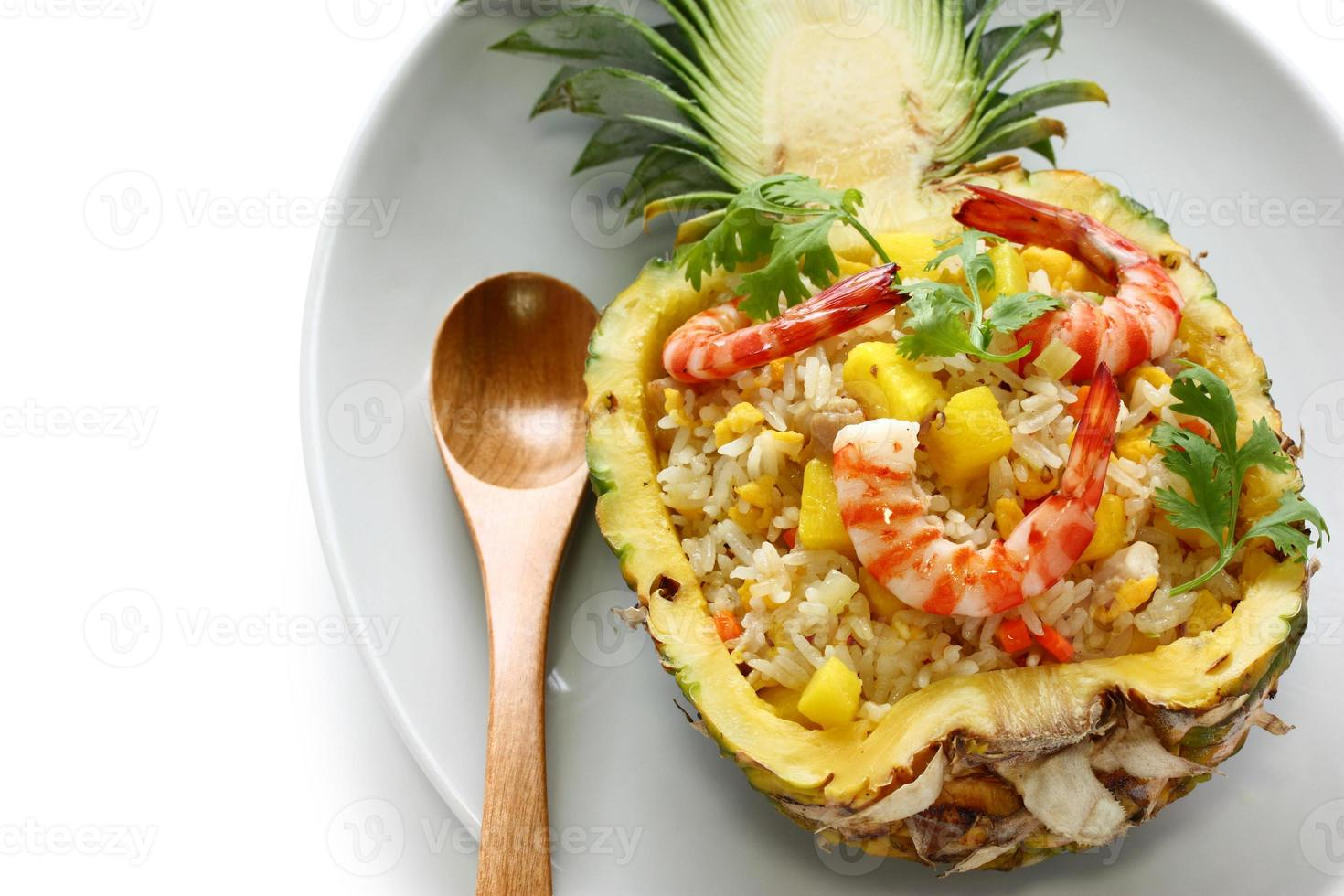 Riz frit à l'ananas photo