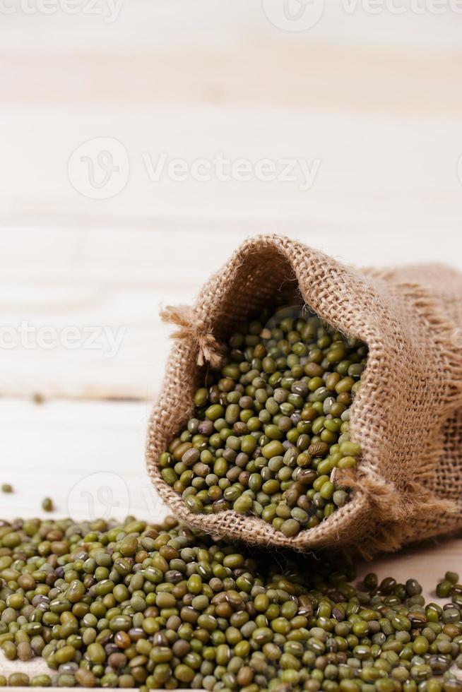 haricots verts en sac photo