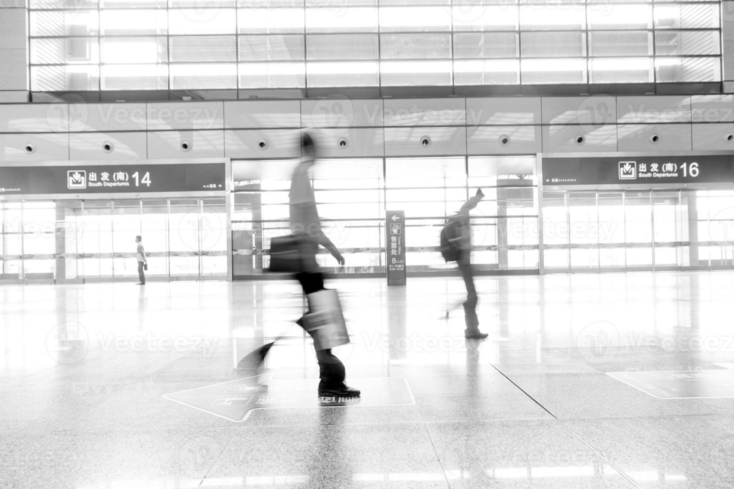 aéroport de pudong de shanghai. intérieur de l'aéroport photo