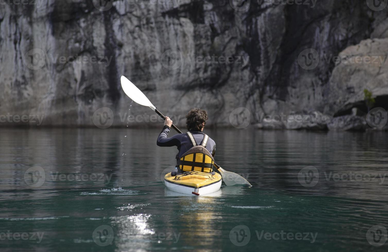 kayak de mer dans le parc national, Patagonie photo