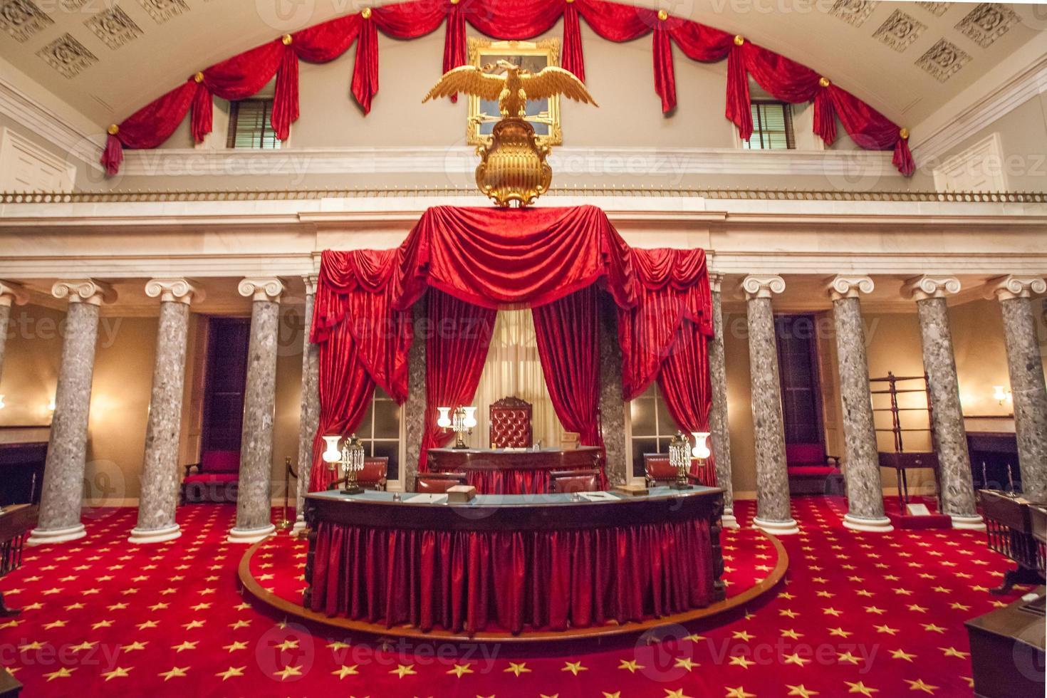 ancienne chambre du sénat dans la capitale américaine photo