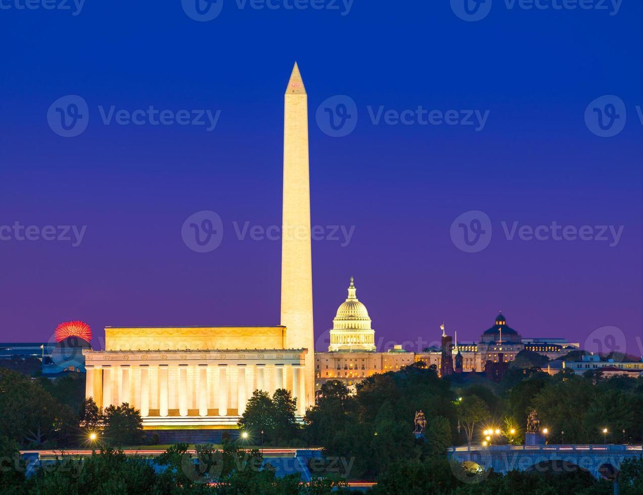 monument de washington capitol et lincoln memorial photo