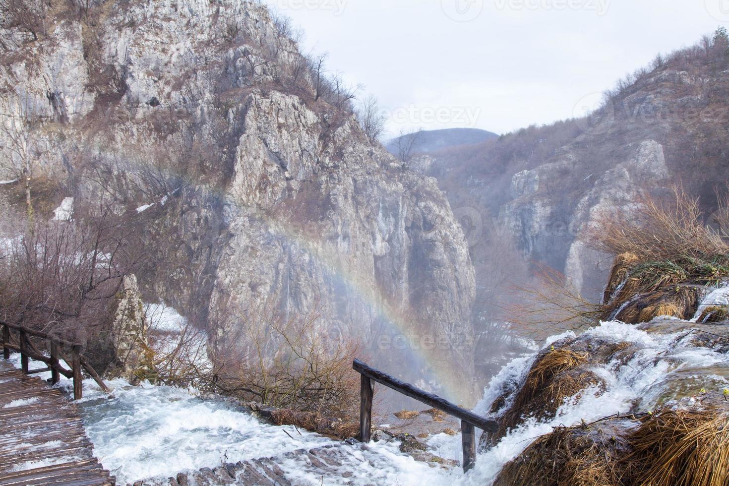 lacs de plitvice arc-en-ciel photo