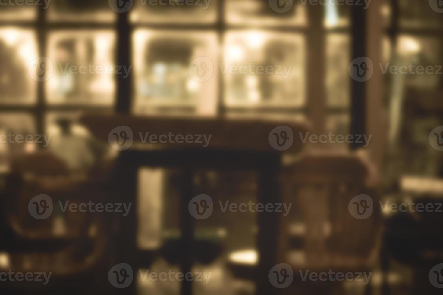flou fond de restaurant photo