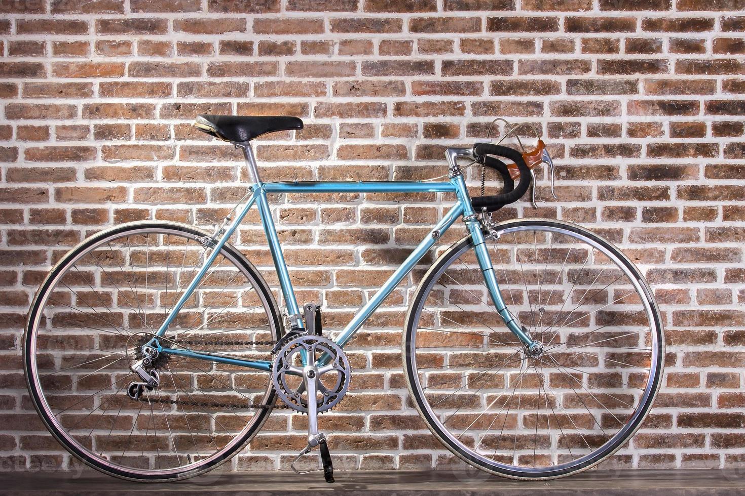 vélo rétro bleu photo