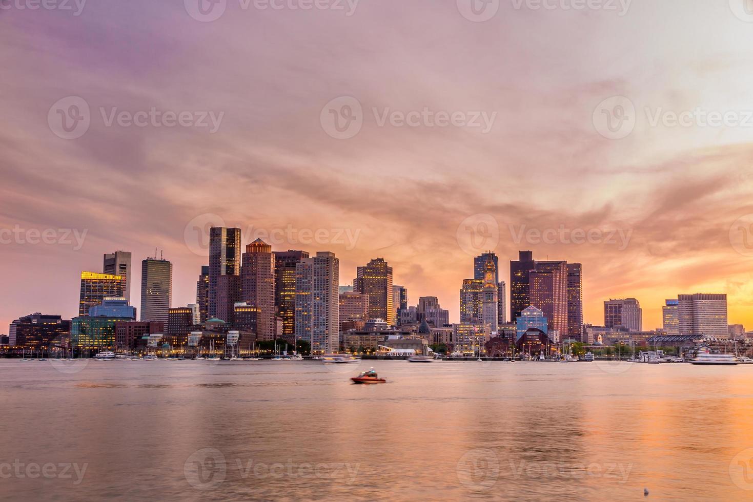 Panorama du centre-ville de Boston photo