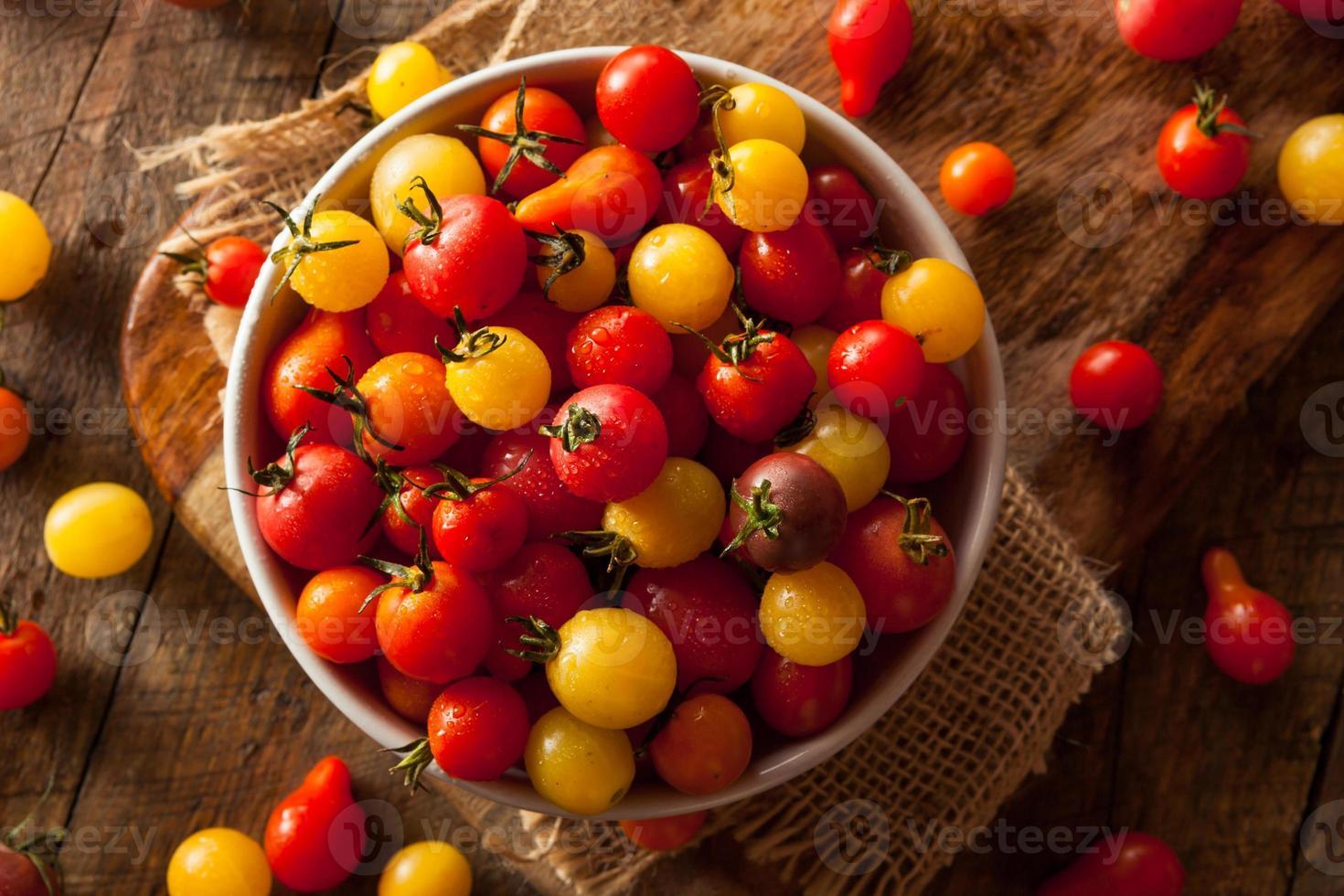 tomates cerises héritage bio photo