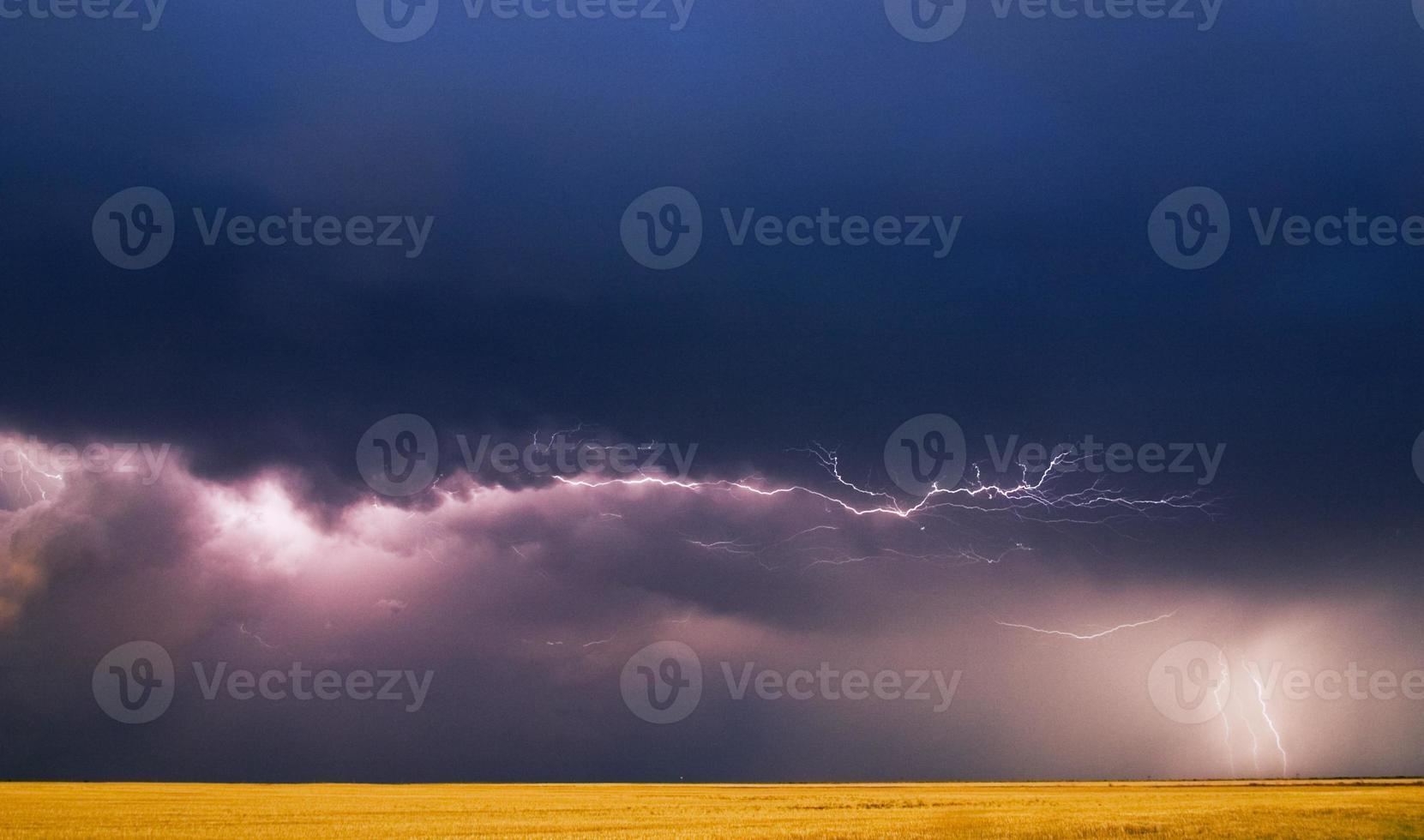 ciel orageux sur un blé déposé photo