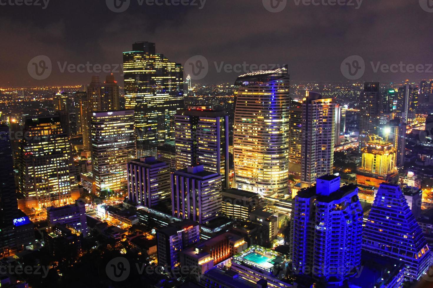 les lumières de la ville de bangkok photo