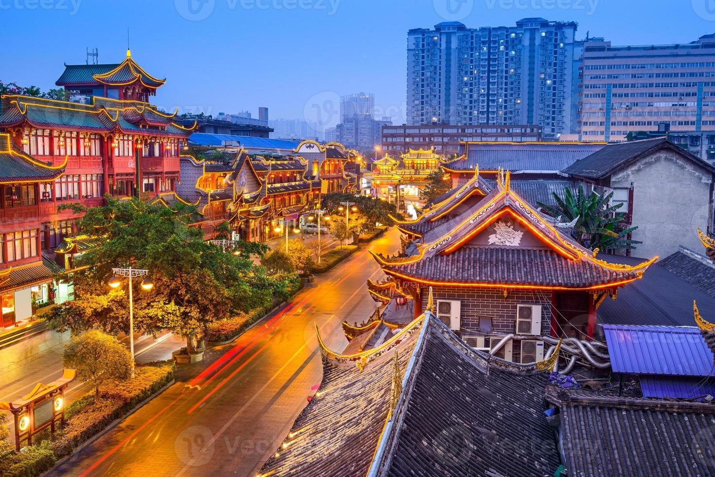 quartier historique de chengdu chine photo