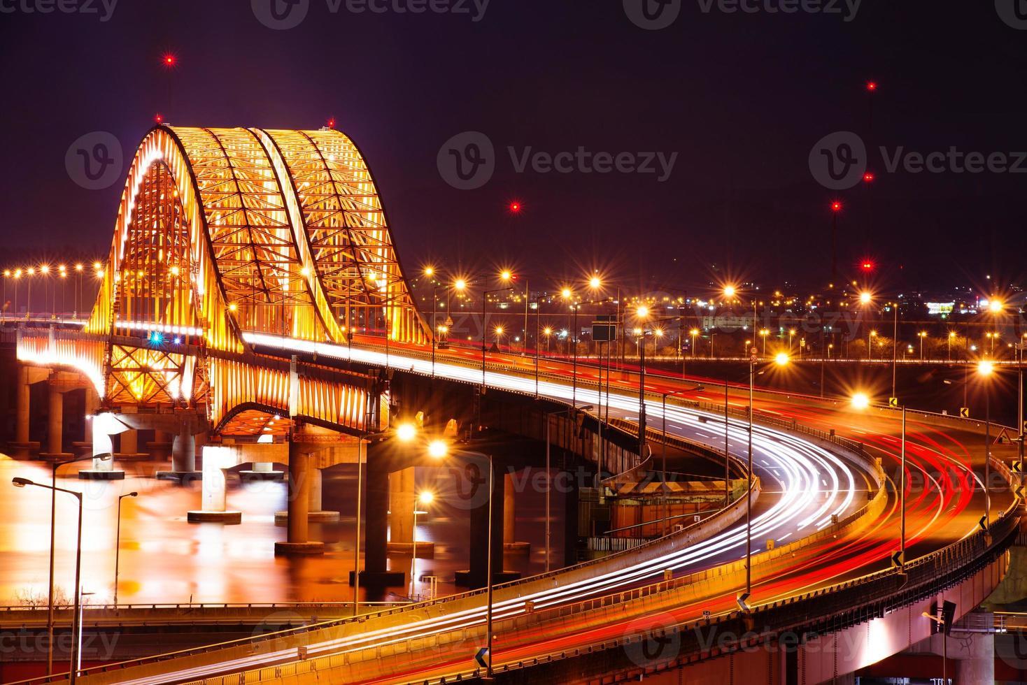 pont de banghwa la nuit, photo