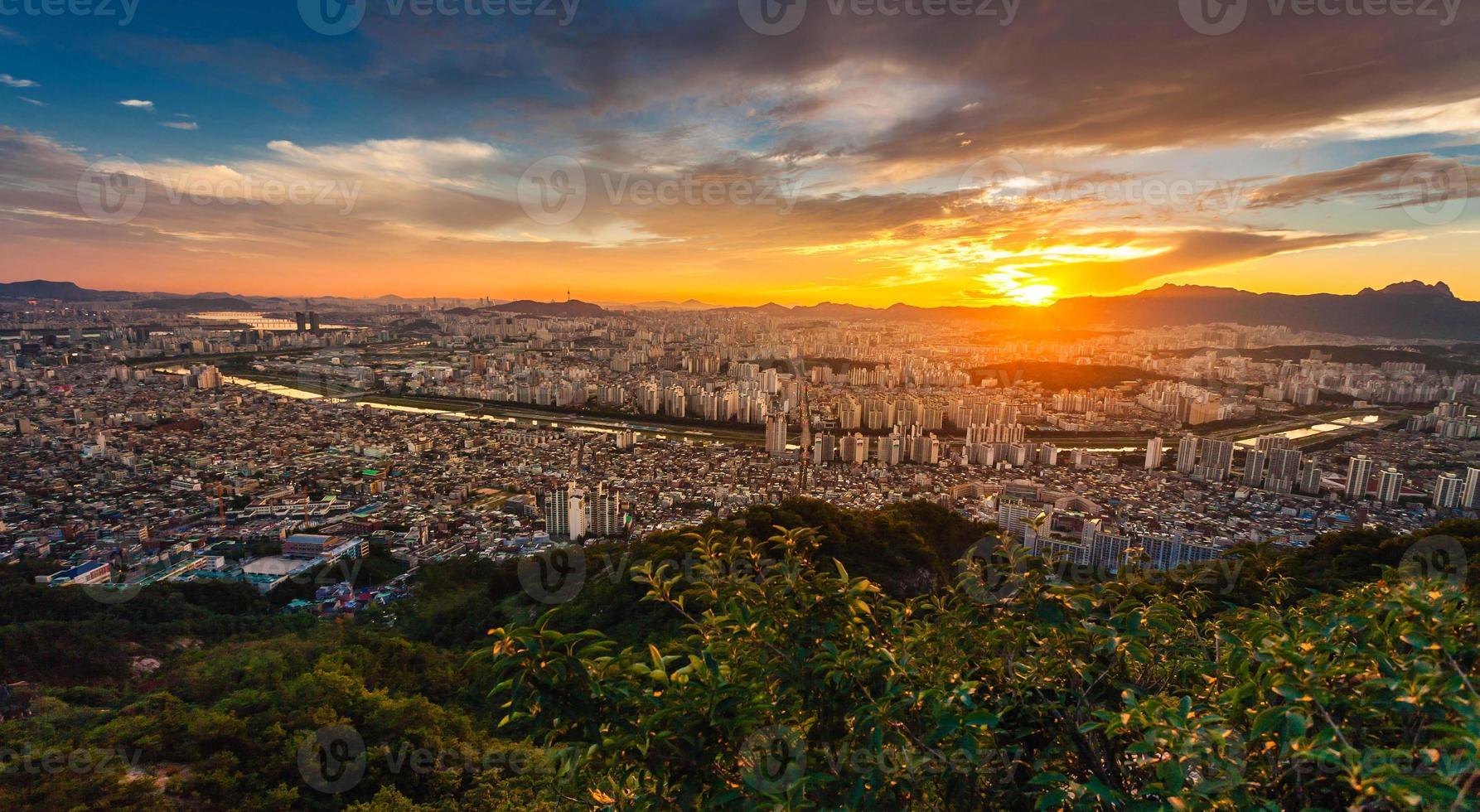 phénomènes de beau ciel à Séoul, Corée photo