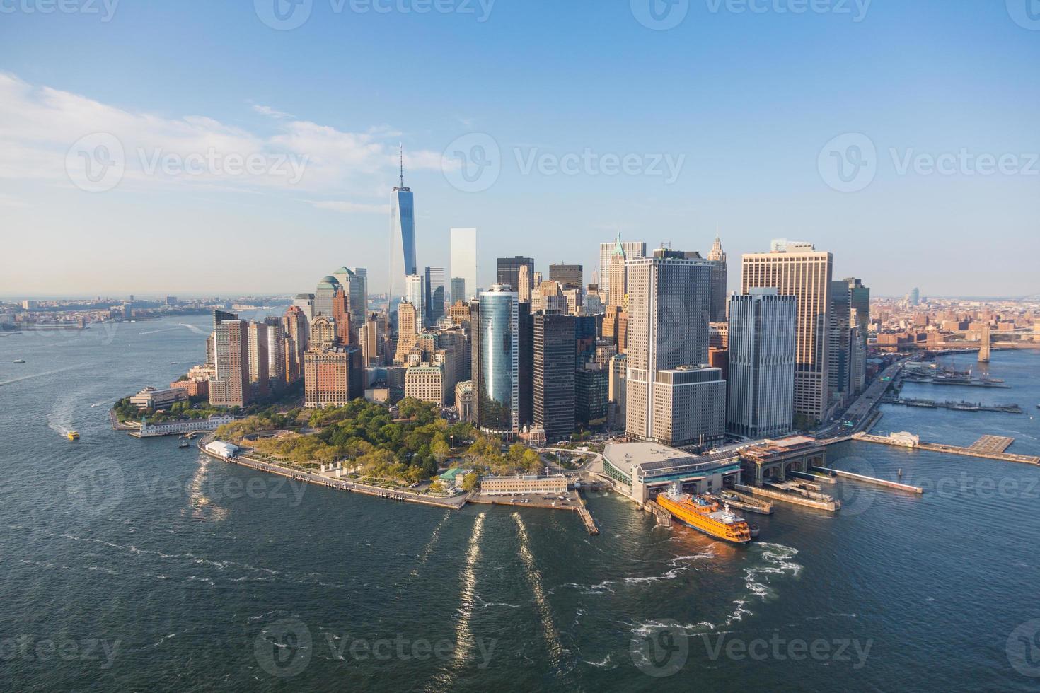 vue aérienne du centre-ville de new york photo