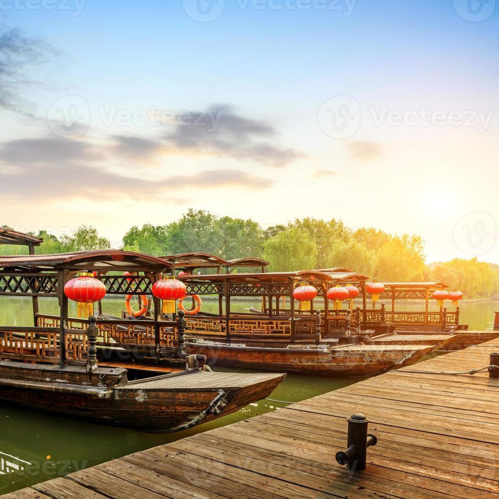 bateau traditionnel chinois photo