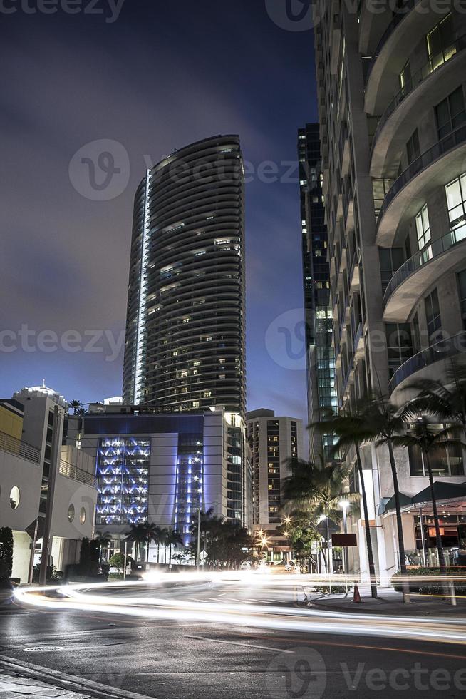 trafic du centre-ville de miami photo