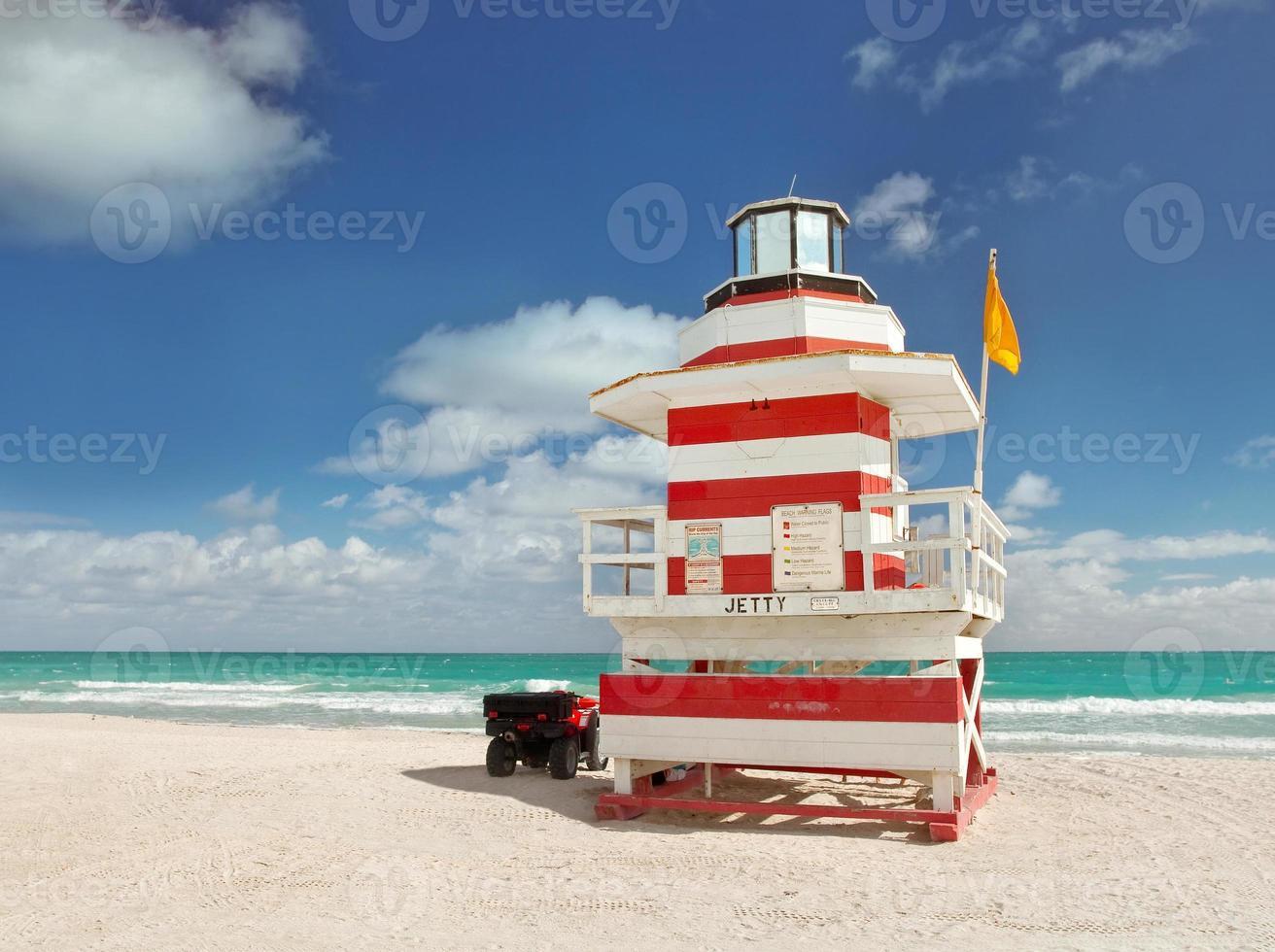 maison de sauveteur de plage de miami photo