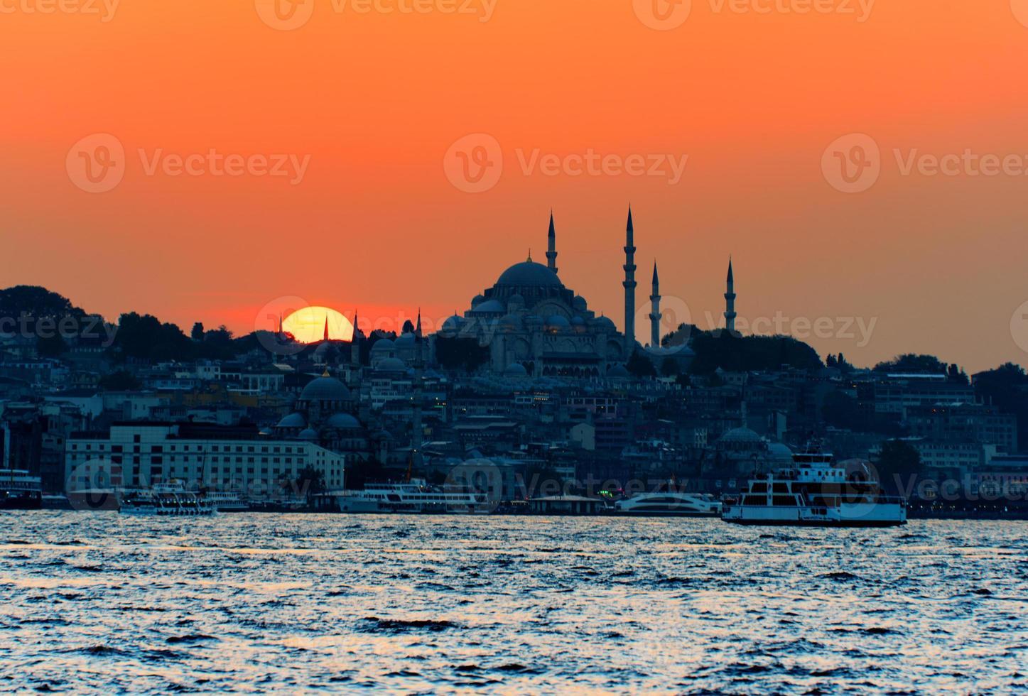 coucher de soleil sur istanbul, turquie photo