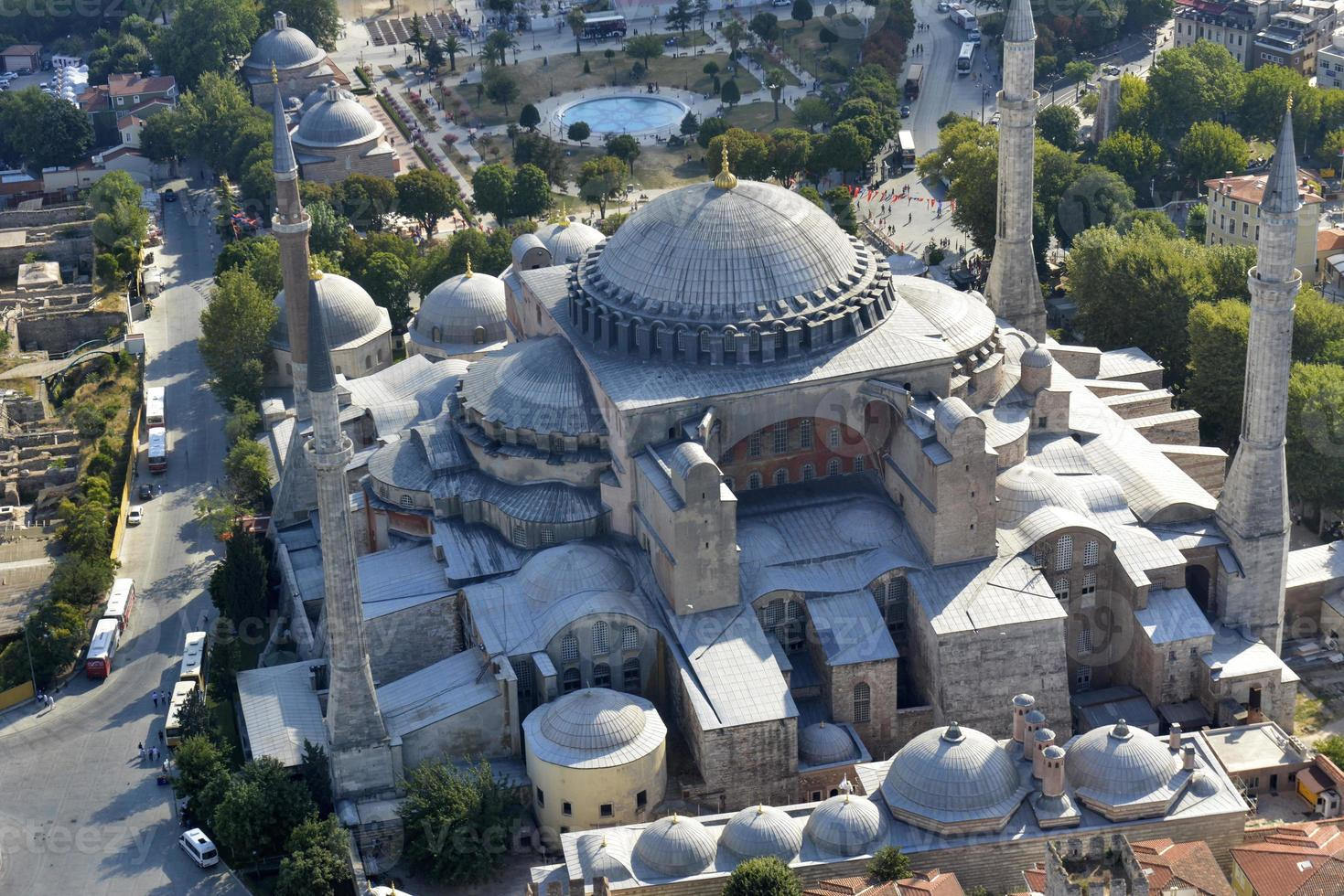 hagia sophia dans le quartier de sultanahmet, istanbul. dinde. photo