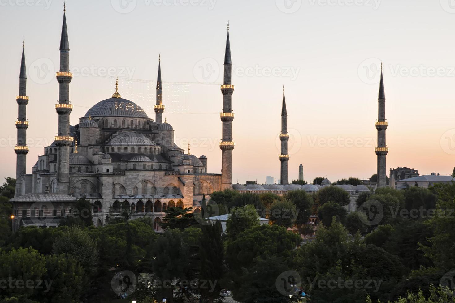 mosquée bleue et hagia sophia photo