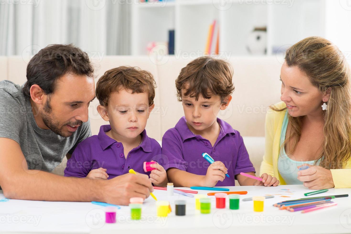 peinture de famille photo
