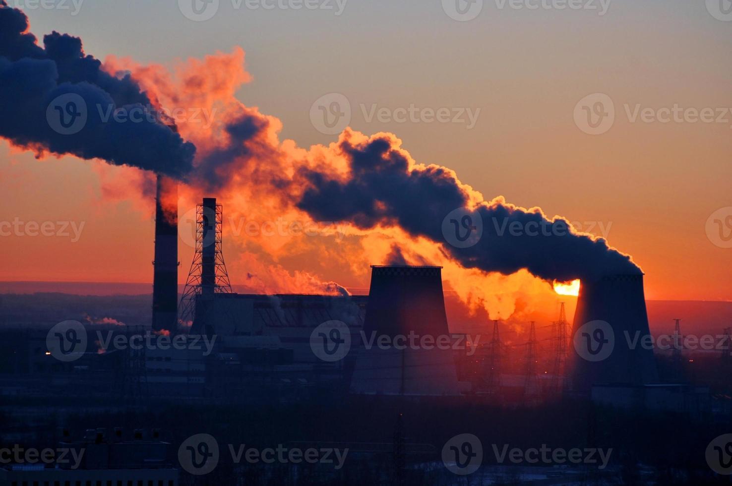 coucher de soleil de l'énergie. photo