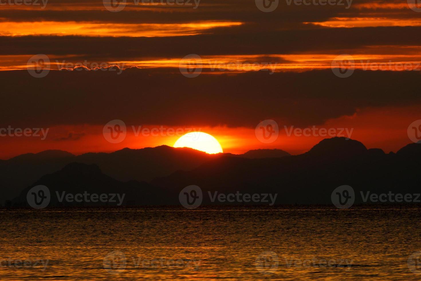 ciel coucher de soleil photo