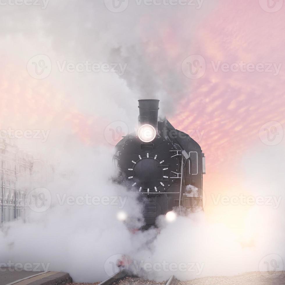 train à vapeur rétro. photo