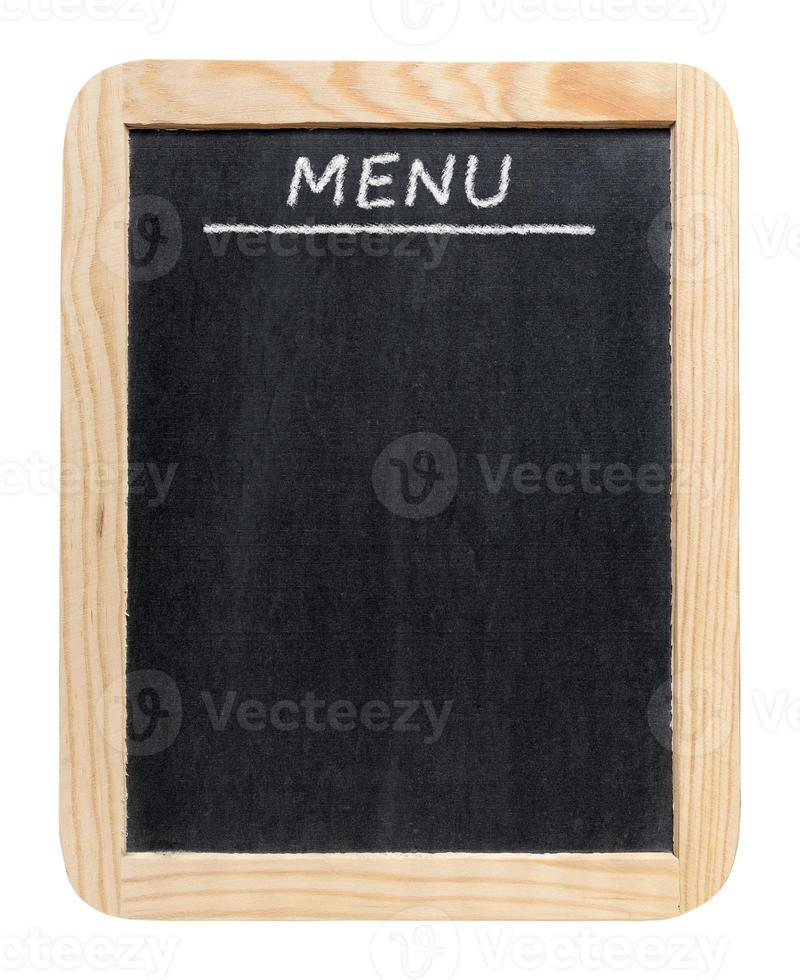 menu tableau noir photo