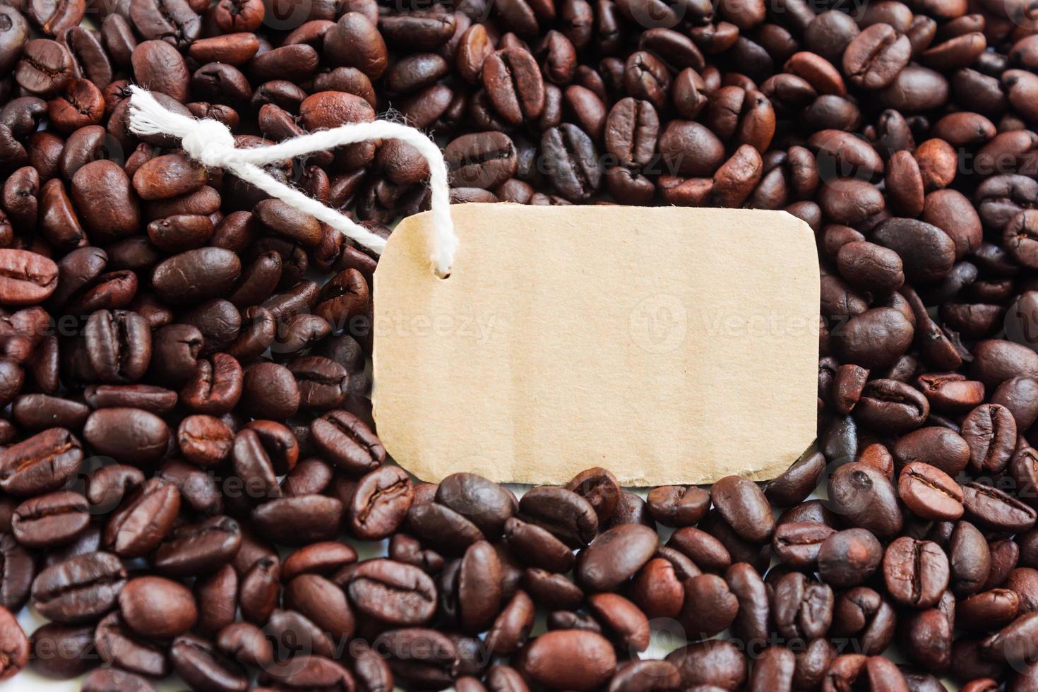 étiquette sur le fond du café photo