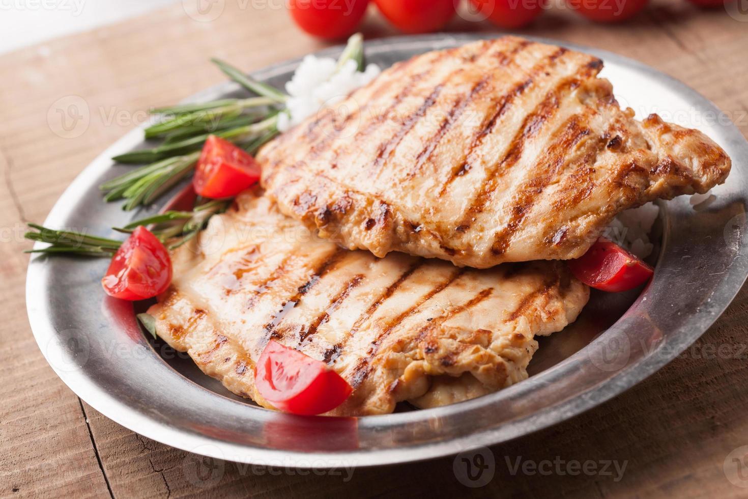 poitrines de poulet grillées au romarin photo