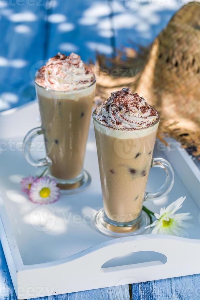 délicieux café en été photo