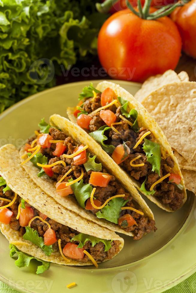 tacos au boeuf haché maison photo