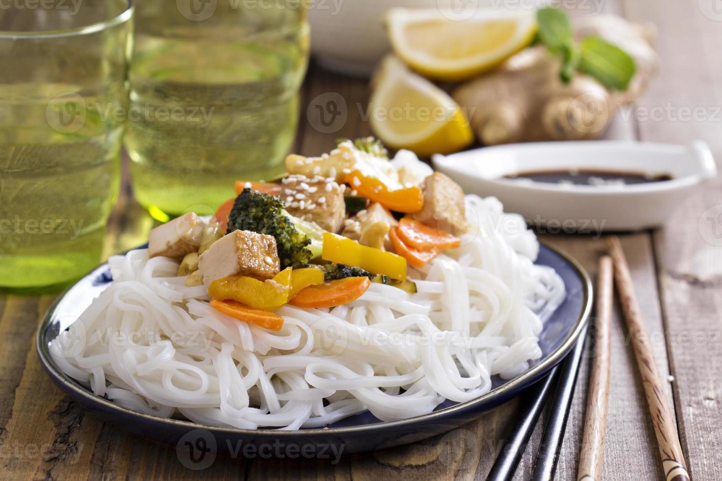 sauté de tofu aux légumes photo