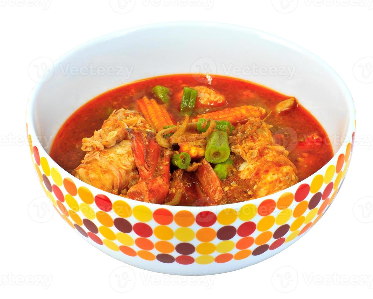 crevettes curry thai food photo