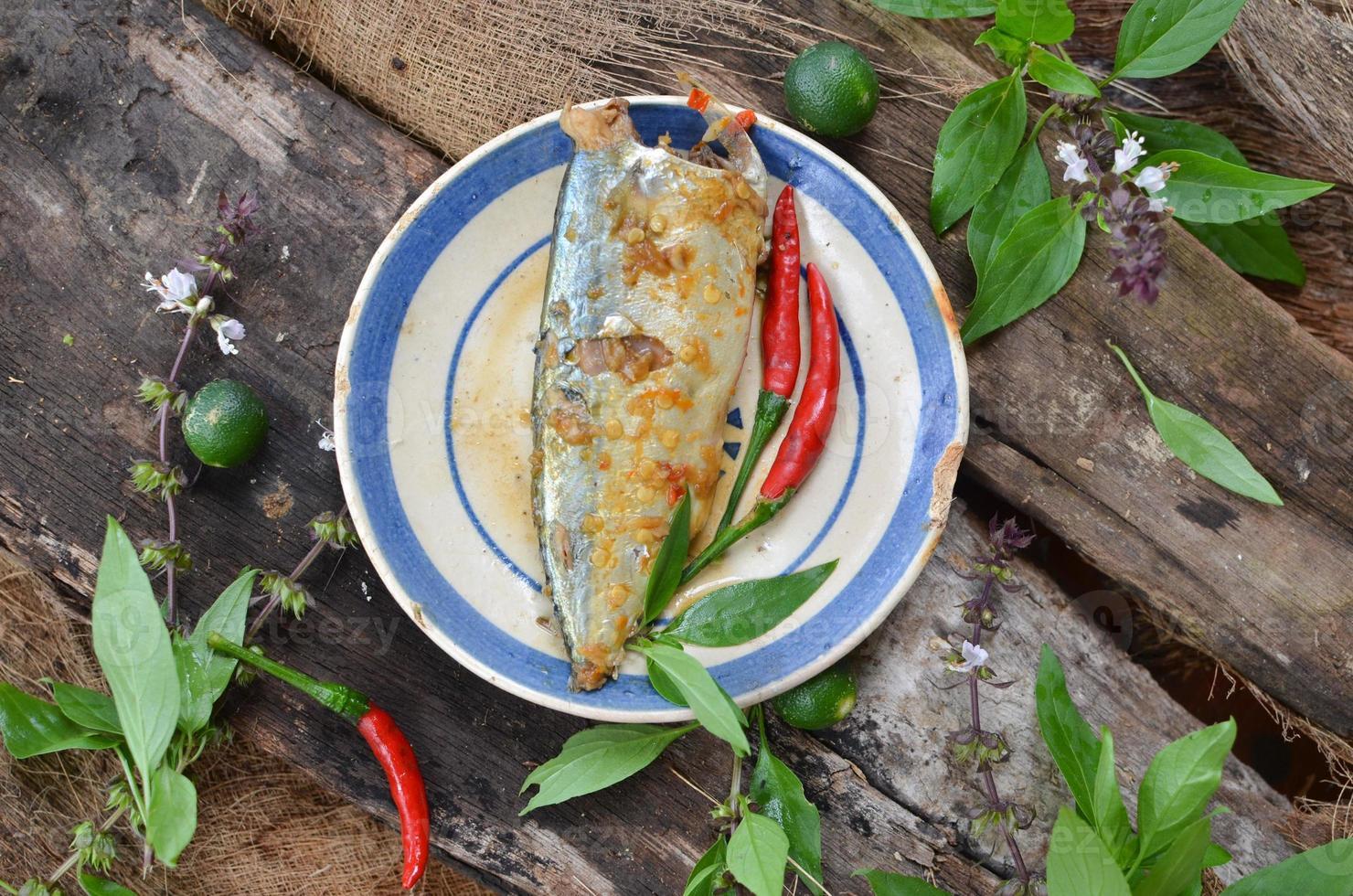 ragoût de poisson à la sauce de poisson dans un style traditionnel vietnamien photo