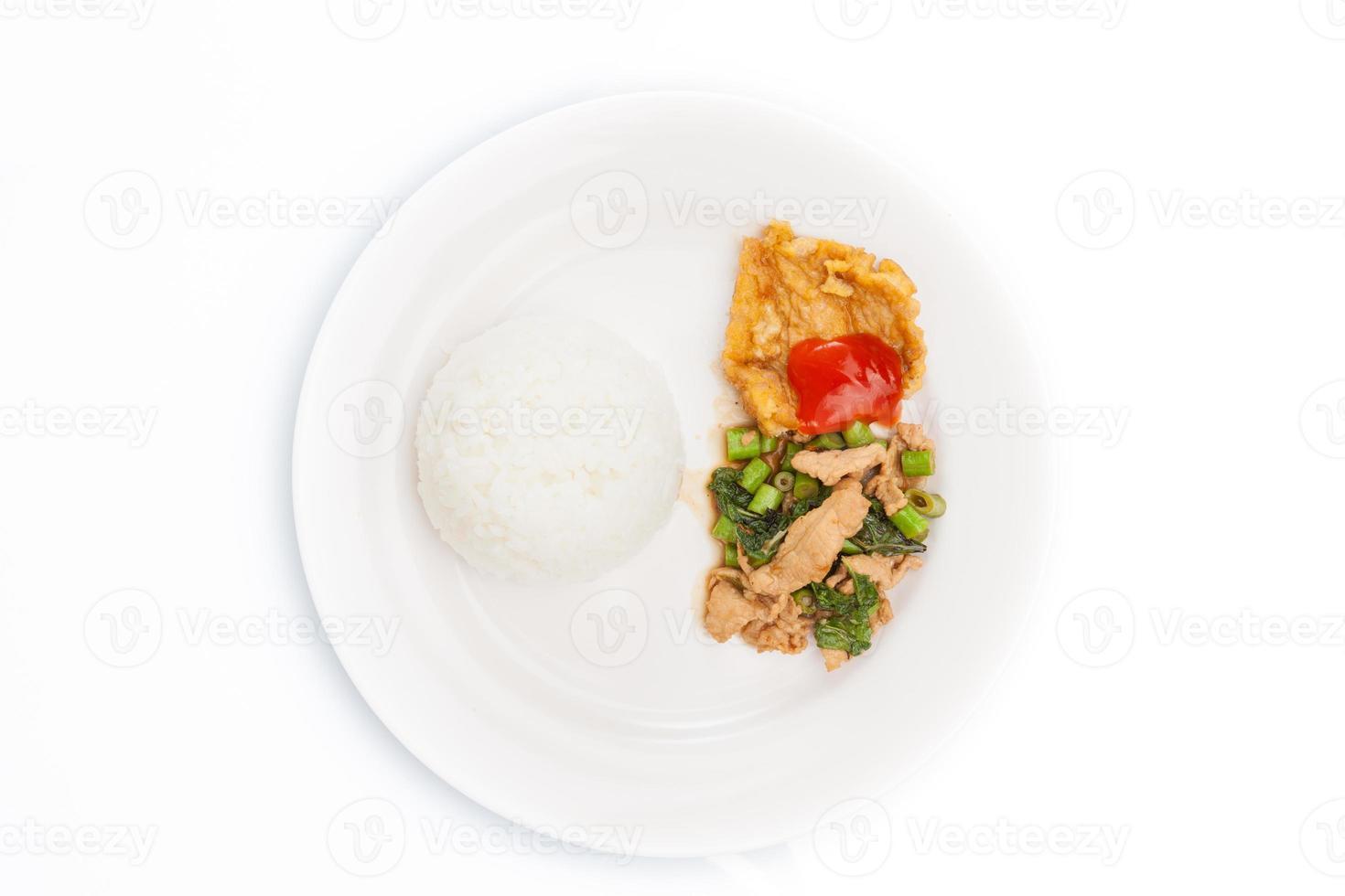 "cuisine thaïlandaise, ""kapao moo"" (cuisine thaïlandaise) photo"