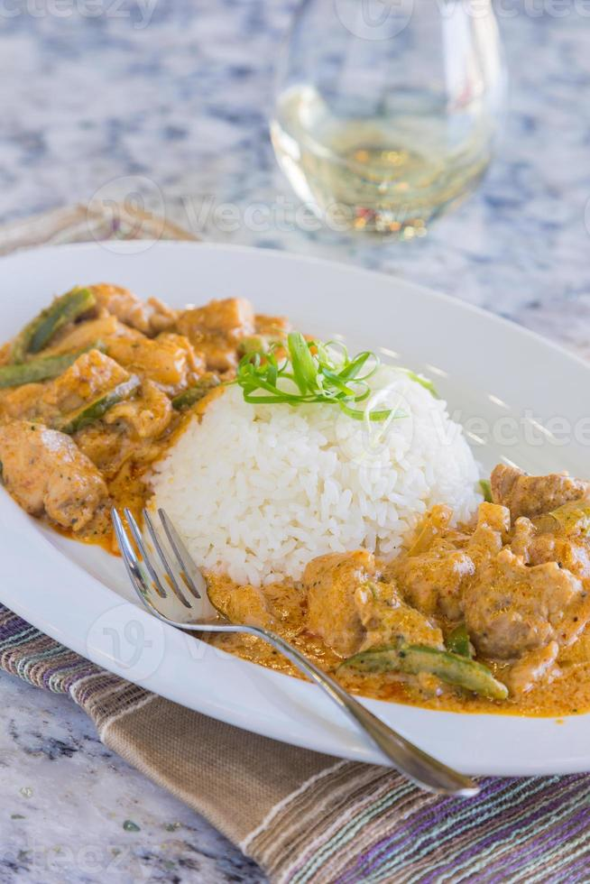 poulet panang curry photo