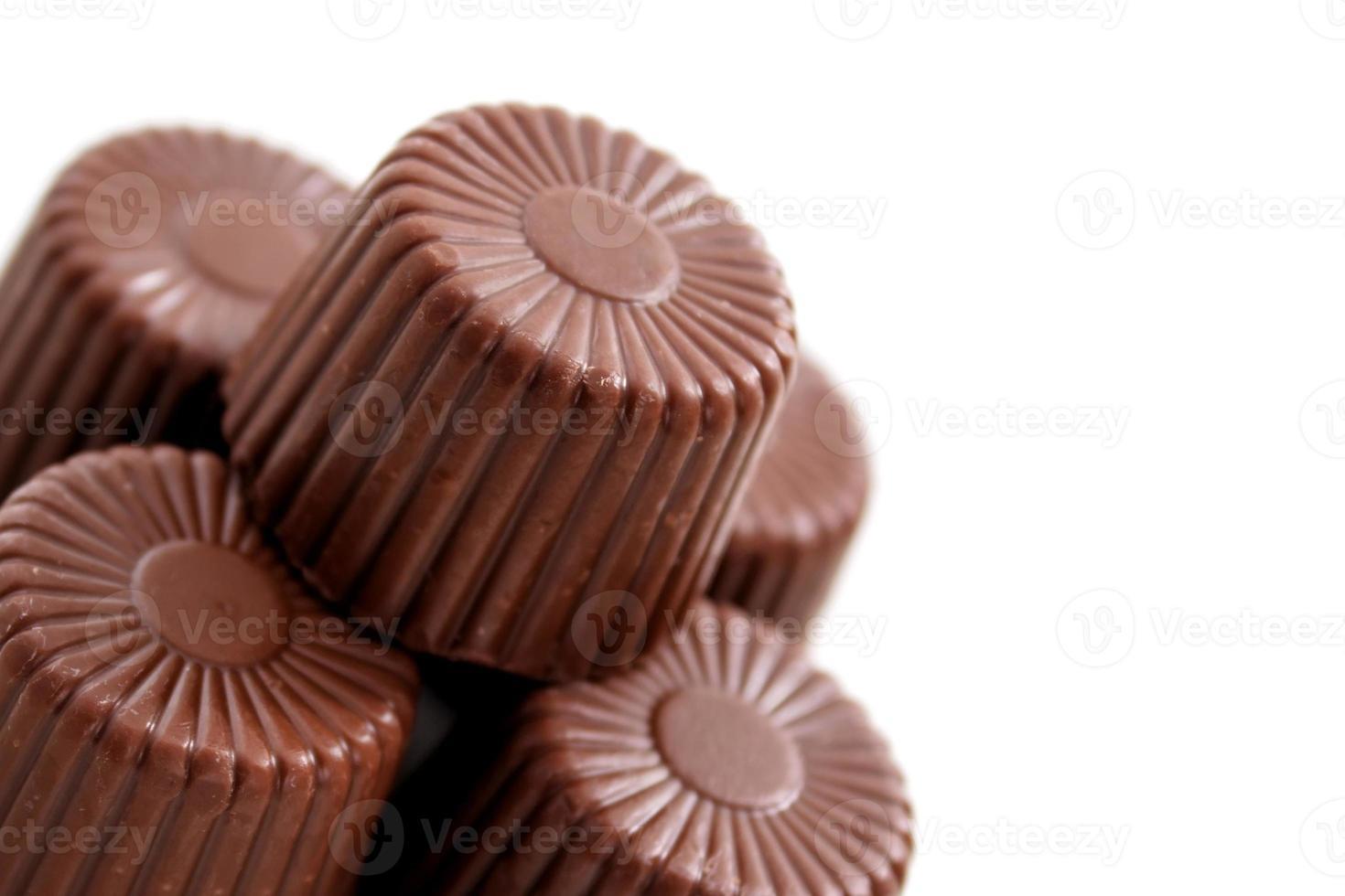 chocolats arrondis du coin inférieur photo