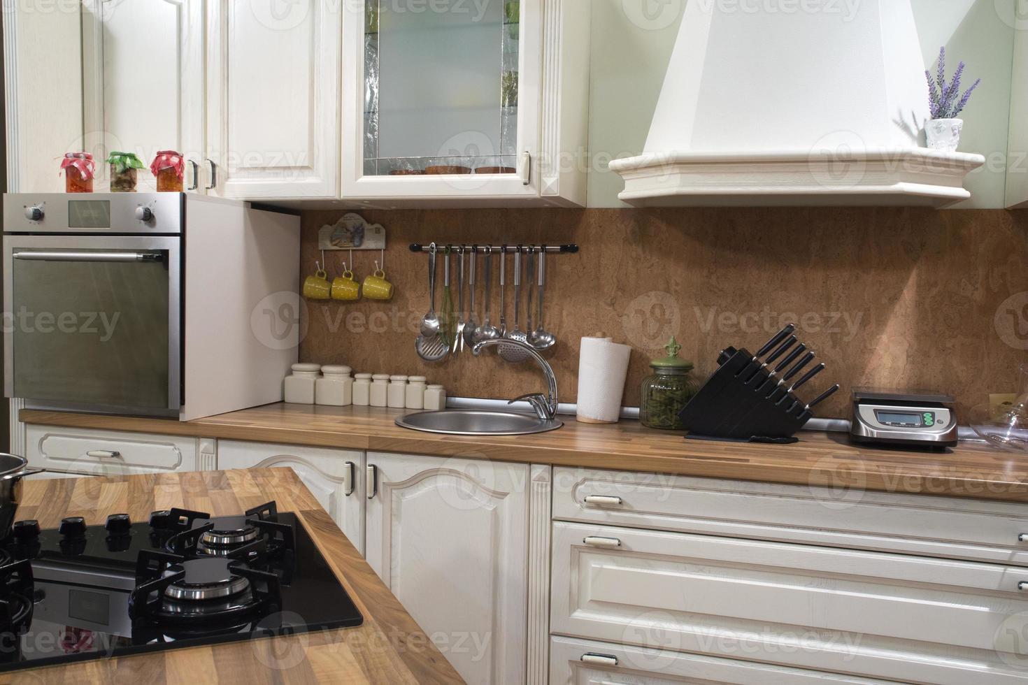 intérieur de la cuisine. photo