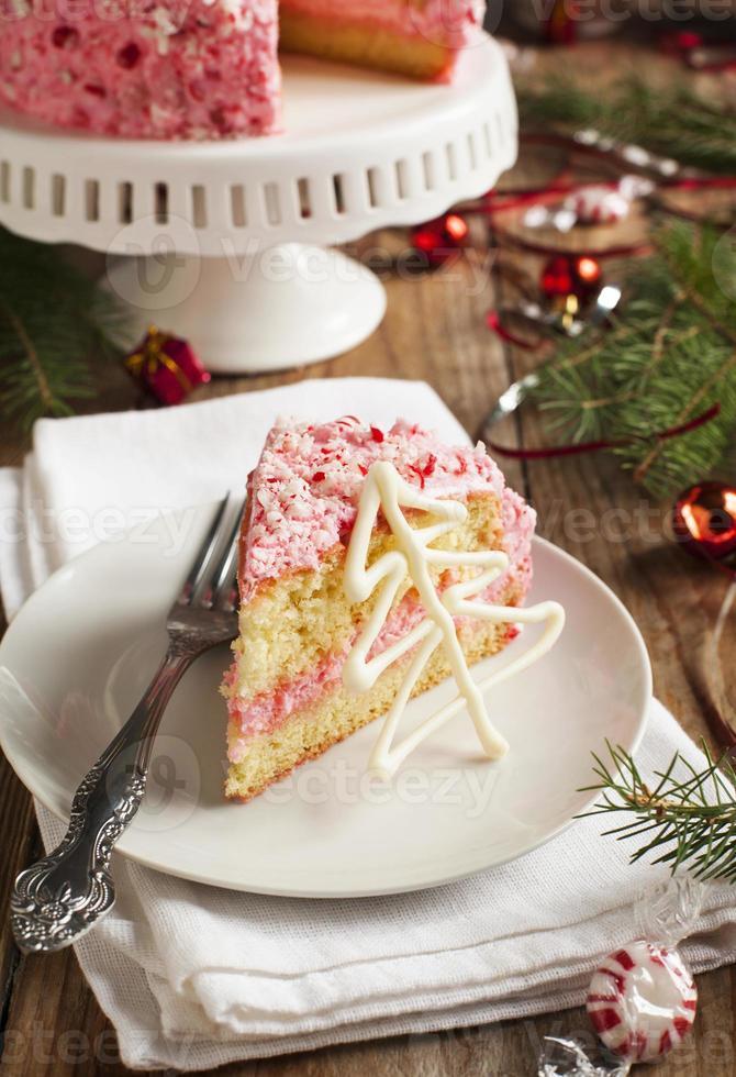 gâteau à la crème glacée à la menthe poivrée photo