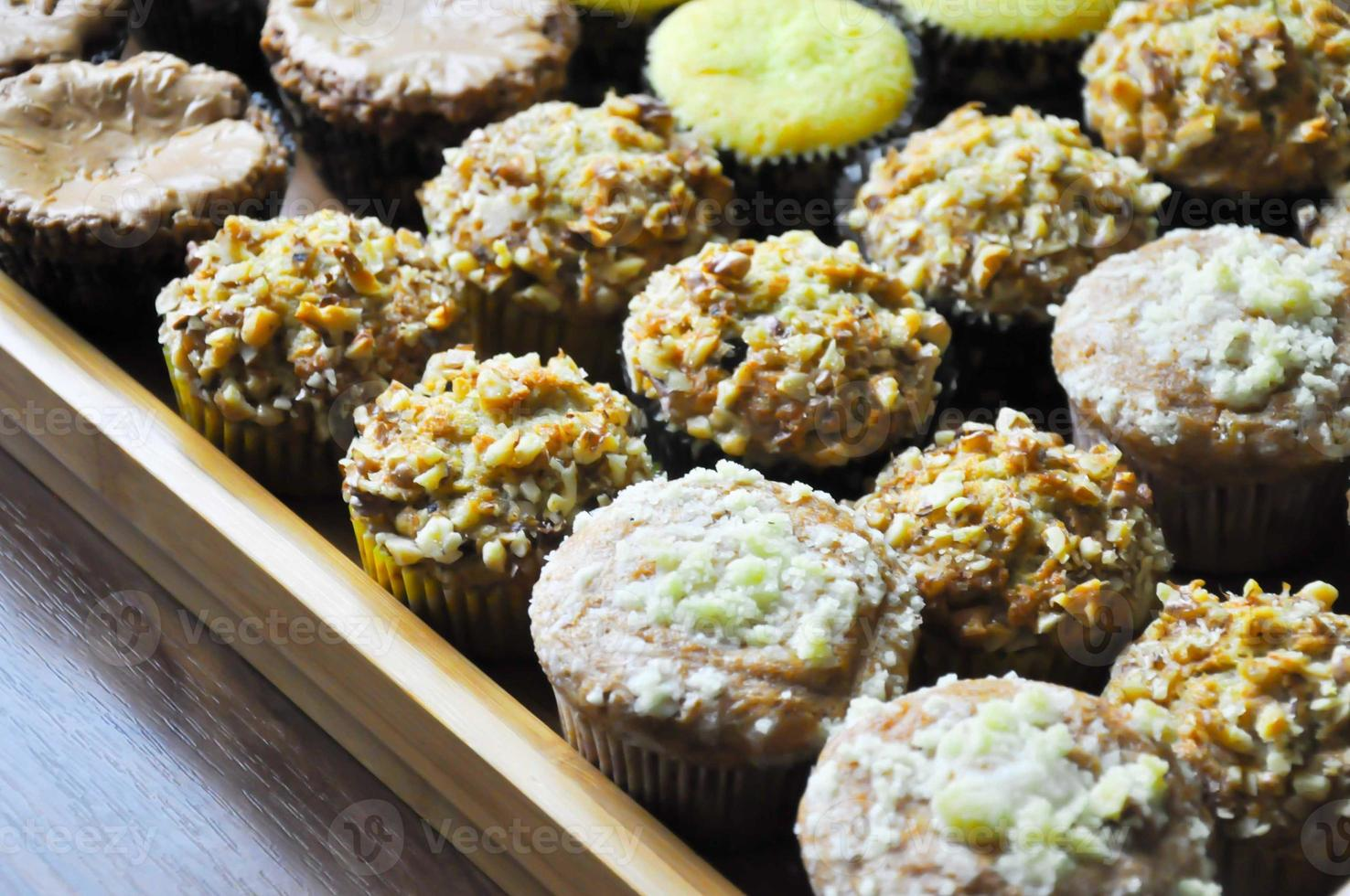 gros plan de recette de muffins photo