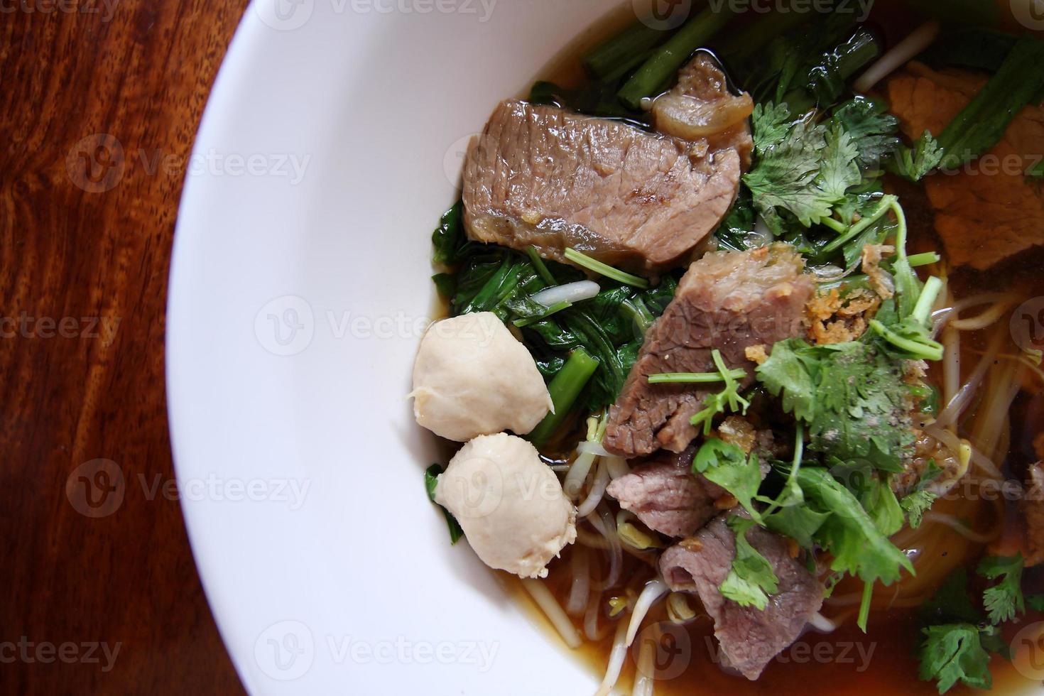 recette de nouilles de riz asiatique. photo