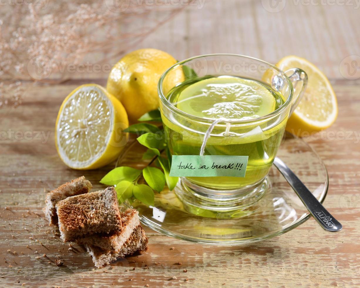 thé au citron photo